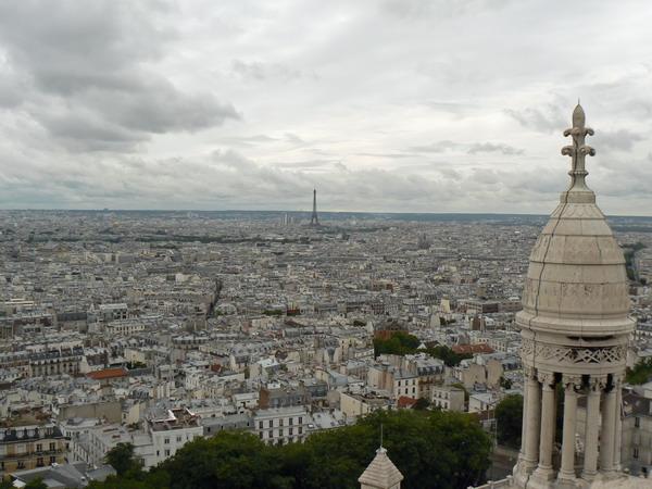 Uitzicht op Eiffeltoren vanaf Sacre Coeur