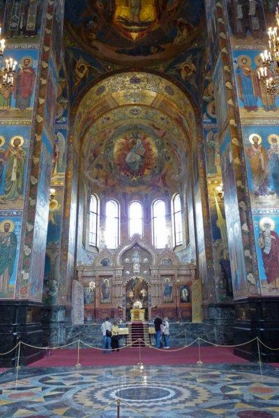 Interieur kerk van de verlosser op het bloed - Whirlpool van het interieur ...